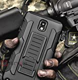 SAKO Black Advanced Armor Hard Hybrid Case Cover Military Stand Holster Combo Case for Samsung Galaxy Note 3 N9000 N3 (Galaxy N3)