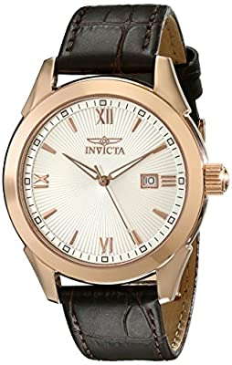 Invicta Men's 18117 Specialty Analog Display Swiss Quartz Brown Watch