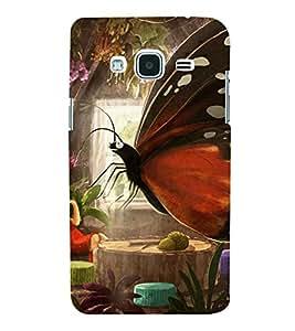 PrintVisa Girl Butterfly Design 3D Hard Polycarbonate Designer Back Case Cover for SAMSUNG GALAXY J3 2016 Edition