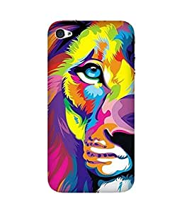 Lion Multi Back Cover Case for Apple iPhone 4/4S