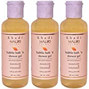 Khadi Mauri Shower Gel & Bubble Bath Pack Of 3 Herbal Ayurvedic - 210 Ml Each