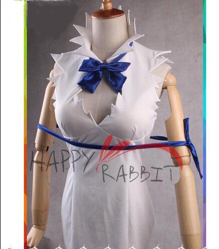 ダンジョンに出会いを求めるのは間違っているだろうか ヘスティア(髪飾り+手袋付) コスプレ 衣装(女性)