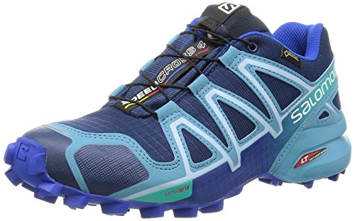 Salomon Speedcross 4 Gtx, Scarpe da Trail Running Donna, Blu (Blue Depth/Blue Gum/Blue Yonder), 41 1/3 EU