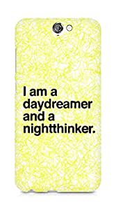 AMEZ daydreamer and night thinker Back Cover For HTC One A9
