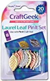 Purple Cows Craft Geek Pin It Scrapbooking Set, Laurel Leaf Pins