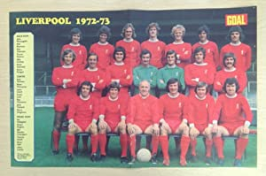 GOAL Football Magazine Liverpool (Manager Bill Shankly) 1972-73 retro team picture from Goal Magazine