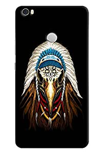 Omnam Vulture Face Printed Designer Back Cover Case For Xiaomi Mi Max
