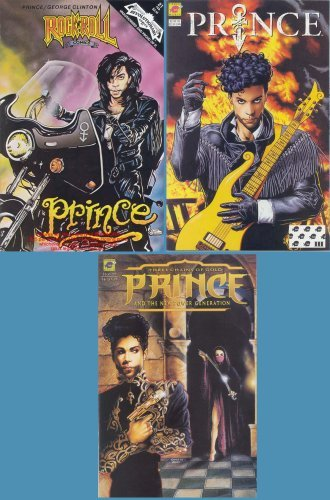 Download PRINCE 3 Different Comics NM+ Unread VHTF (Rock 'N' Roll Comics, New Power Generation: Three Chains of Gold, Alter Ego)