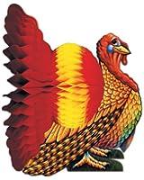 Beistle 1-Pack Decorative Tissue Turkey Centerpiece, 9-Inch