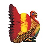 Tissue Turkey Centerpiece Party Accessory (1 count) (1 Pkg)