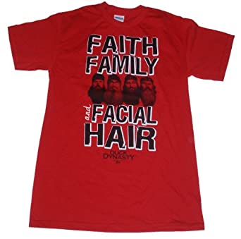 Duck Dynasty Faith Family and Facial Hair Licensed Graphic T-Shirt - Medium