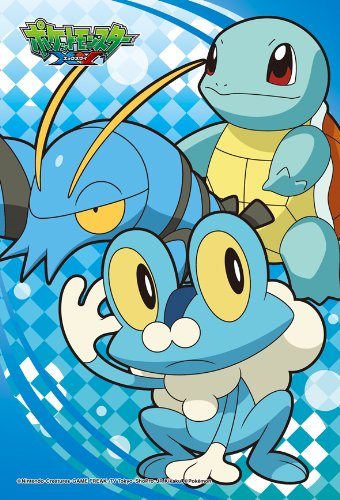 Ensky Pokemon XY Squirtle Froakie Clauncher Jigsaw Puzzle (150-Piece), Mini