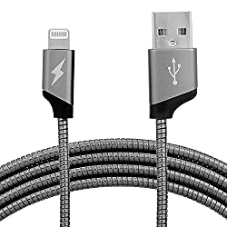Parallel Universe Enduro Toughest Metal Lightning USB Cable for iPhone, iPad and iPod