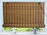 Bamboo Roll Up Window Blind Sun Shade W48