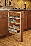 """Rev-A-Shelf 432-BFBBSC-6C Pull-Out Between Cabinet Base Filler with Ball-Bearing Soft-Close Slides, 6"""", Natural"""