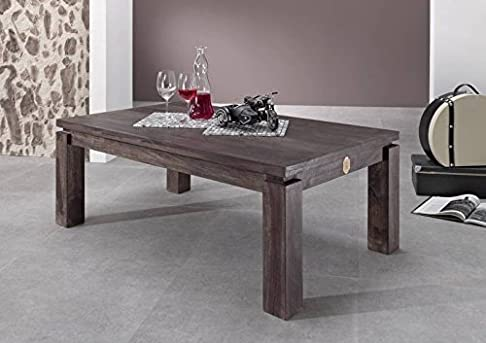 mobili in legno massello palissandro in legno massello grigio Tavolino da salotto 130x70 LEGNO MASSELLO SHEESHAM LACCATO MOBILI METRO POLIS #176