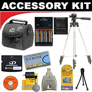 2GB DB ROTH Deluxe Accessory kit For The Fujifilm FinePix IS-1 PRO, S9100, S6000fd, S5700, S5200, S5100, S5000, S3500, S3000, 3800 Digital Cameras