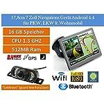 """17,8cm 7"""" Zoll Android 4.4 PKW,LKW,GPS Navigationsgerät Navigation,WIFI,Wohnmobil, Neuste Europa Karten sowie Radarwarner,Funk Rückfahrkamera mit 7 LED`s, Nachtsicht Funktion, Wasserfest,Tablet PC,Internet,Wohnmobil,Auto,LKW, 16GB Speicher, HD Display,AV-IN,Tablet PC, Bluetooth"""