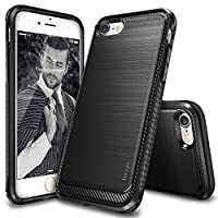 iPhone 7 Case, Ringke [Onyx] [Resilient Strength] Flexible Durability, Durable Anti-Slip, TPU Defensive Case for Apple iPhone 7 - Black