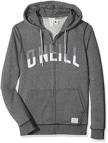 O'Neill LM, colore: argento, da uomo, con Zip intera, Maglietta a maniche lunghe grigio Grey (Mareine Melee) XS