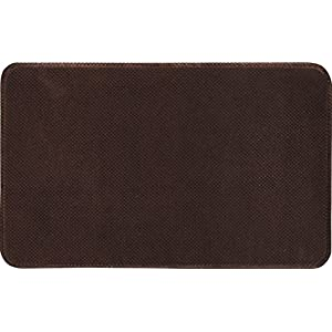 Home Dynamix Modern Indoor/Outdoor Home Dynamix Rugs Relief RLM-Brown 20 in. x 32 in. Anti Fatigue Comfort Mat 1-RLM-500
