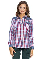 Pepe Jeans London Camisa Sugar (Azul / Rojo)