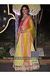 Designer LAMON NET Bollywood Replica Lehenga Choli.