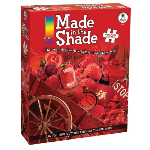 BePuzzled 750pc Puzzles - Made in the Shade - Red