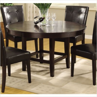 Bossa Round Dining Table in Dark Chocolate Size: 54""