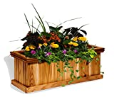 "Cedar Patio Box Planter 11""w X 30"" L"