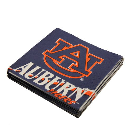 NCAA Auburn Tigers 16-Pack Beverage Napkins
