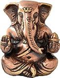 Two Moustaches Siddhivinayak Ganesha Brass Idol