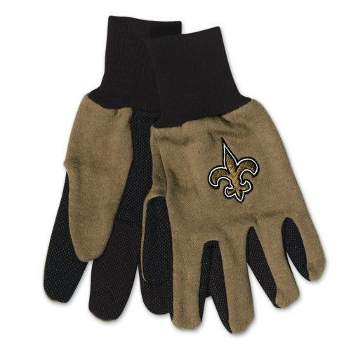New Orleans Saints Gloves - Adult Two Tone at Amazon.com