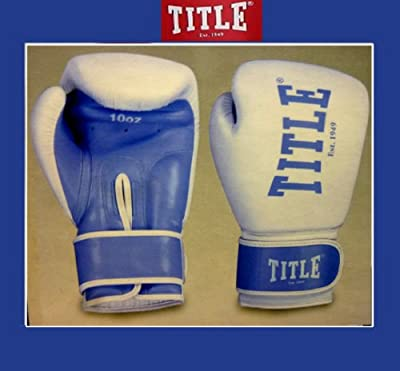 Ladies Title Boxing Gloves Punching Blue Bag Mitt Sparring Gym Training 105919 from TITLE