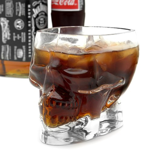 Half Liter Pirate Skull Drinking Glass