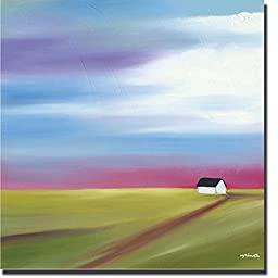 Prairie Abstract 2 by Mary Johnston Premium Gallery-Wrapped Canvas Giclee Art (Ready to Hang)