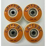 carryBC PU skateboards wheels,Skateboard Wheel Hardness SHR - 100A, Pure white 53mm x 31mm 4 PCS,608Z ABEC 7 bearing 8 PCS,The bearing casing 4 PCS (Color: white)
