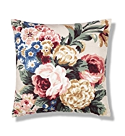Country Floral Print Cushion
