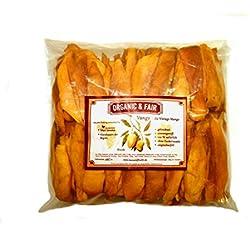1kg Mango (Brooks) getrocknet 100 % Mango - kein Zucker - kein Schwefel - keine Zusätze *fruchtig & lecker* | Fair Trade von Kleinbauern | Mangostreifen aus Afrika | Süßlich - mürbe Sorte