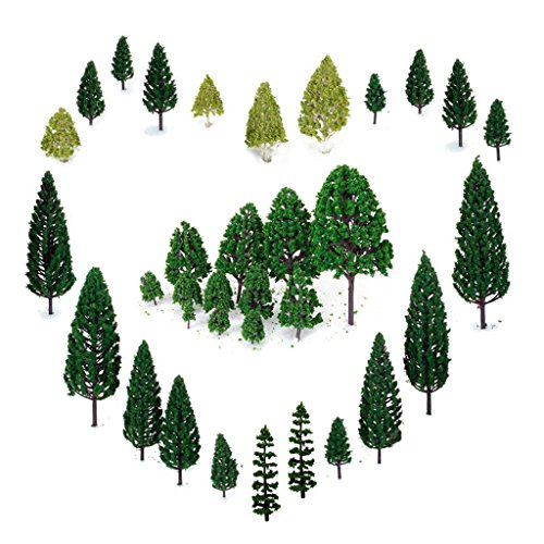 29pcs Mixed Model Trees 1.5-6 inch(4 -16 cm), OrgMemory Ho Scale Trees, Diorama Models, Model Train Scenery, Architecture Trees, Model Railroad Scenery (Model Train Layouts compare prices)