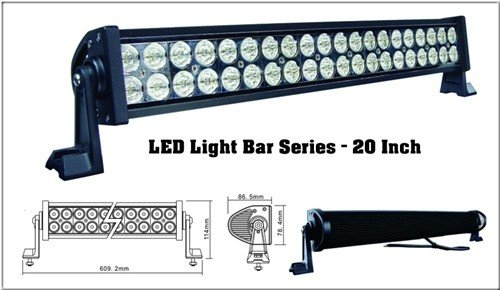 """Worthtrust 20"""" Led Light Bar Dr Series Combo Beam Flood/ Spot Light 9- 32V, 120W"""