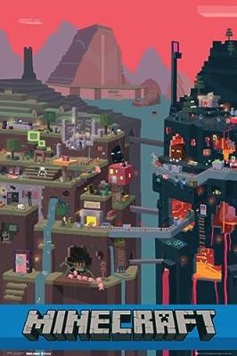 Minecraft Sam Cube 22x34 Poster Game Art Print Underground
