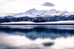 Startonight Wall Art Canvas Daydream Ice Age, Alaska, Frozen USA Design for Home Decor, Dual View Surprise Artwork Modern Framed Ready to Hang Wall Art 23.62 X 35.43 Inch 100% Original Art Painting!