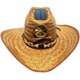 Kool Breeze Solar Hat Male Palm Leaf Cowboy Hat w.band