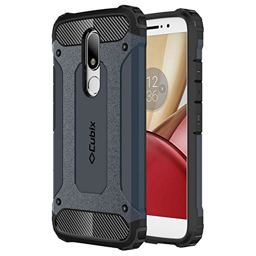 Moto M Case Cubix Rugged Armor Case For Motorola Moto M (Navy Blue)