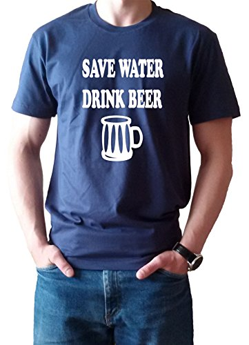 Random sarcastic save water drink beer t-shirt