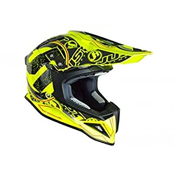 JU001245 - Casque Just1 J12 Stamp Carbone Jaune Fluo L