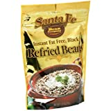 Santa Fe Bean Co., Instant Fat Free Black Refried Beans, 7.25-Ounce Pack (Pack of 8)