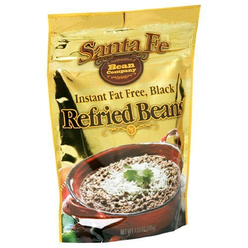 Santa Fe Bean Co., Instant Fat Free Black Refried Beans, 7.25-Ounce Pack (Pack of 8) (Freeze Dried Refried Beans compare prices)
