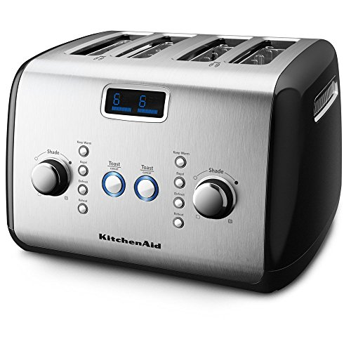 KitchenAid KMT423OB 4-Slice Toaster with One-Touch Lift/Lower and Digital Display - Onyx Black (Kitchenaid Toaster Oven Black compare prices)
